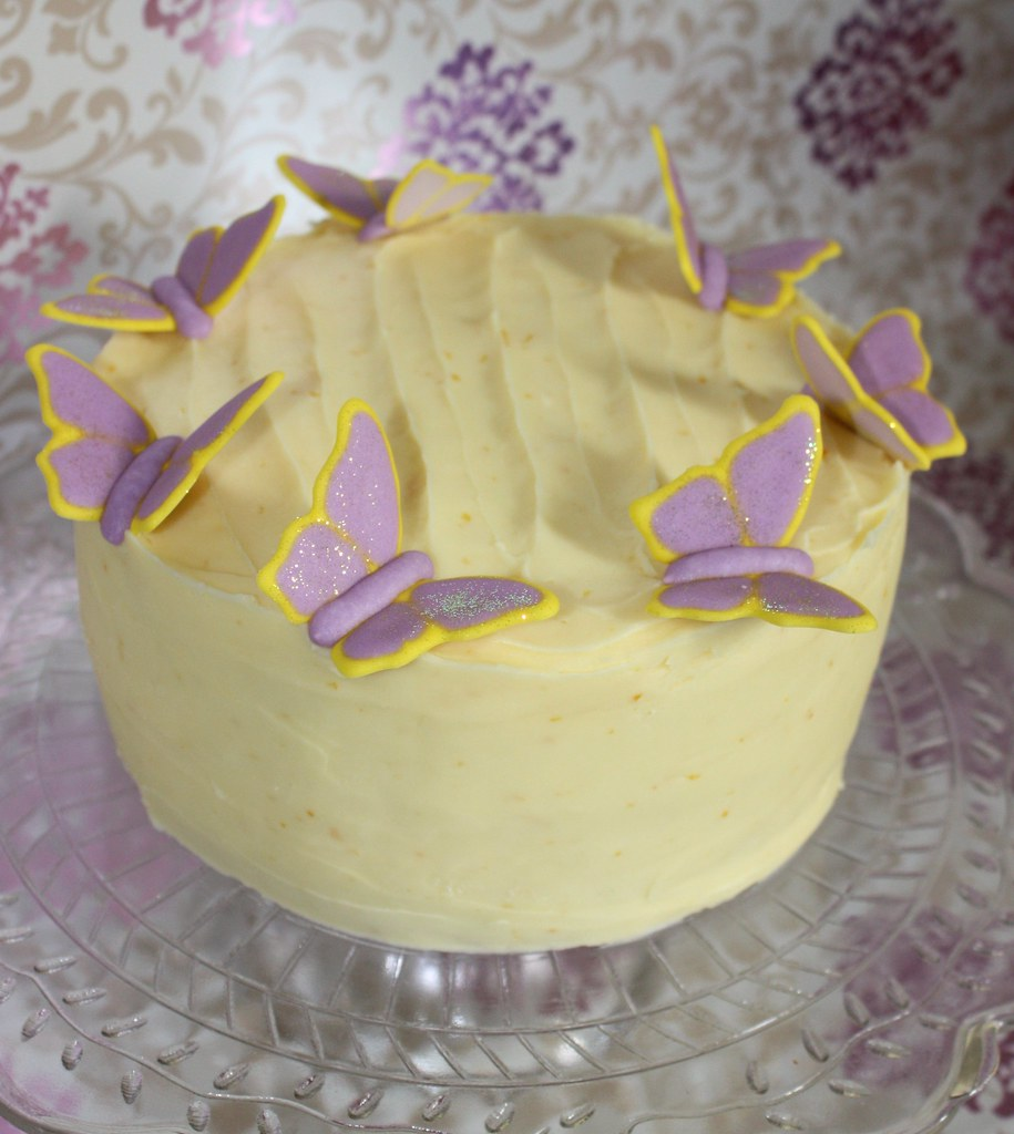 Triple Lemon Layer Cake | Lemon buttermilk cake ...