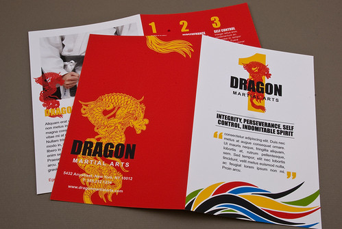 Martial arts academy brochure martial arts academy for Art brochure template