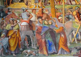 Affreschi all'interno della chiesa di Santa Maria degli Angeli, Lugano, CH | da renzodionigi
