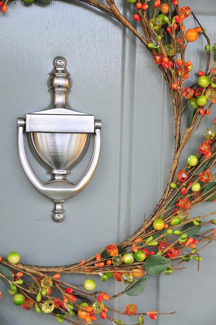 Door Knocker And Wreath Flickr Photo Sharing