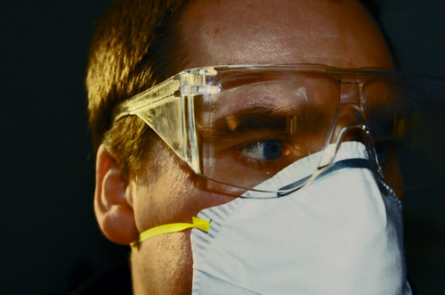 Swine Flu Maximise protection 1 Flu H1N1 Influenza Pandemic flu face mask and safety glasses | by hitthatswitch