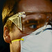 Swine Flu Maximise protection 1 Flu H1N1 Influenza Pandemic flu face mask and safety glasses