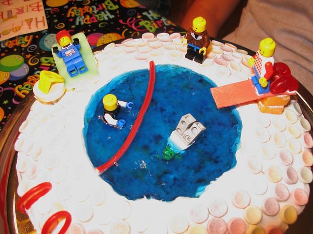 Swimming Birthday Cake