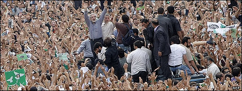 Latest: Huge Rally in Support Of Mousavi, Tehran | by mousavi1388