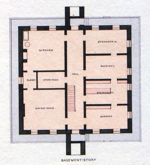 Governor 39 s island ny old post hospital basement plan 1871 for Island basement house plans