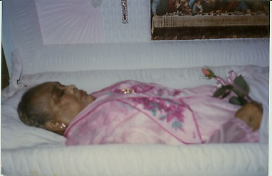 """Woman's body in a coffin 