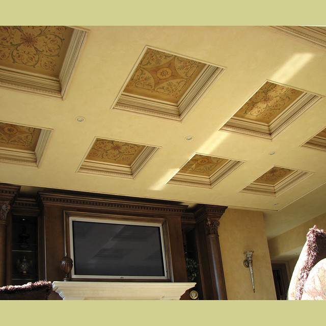 Stencils For Coffered Ceiling Wall And Ceiling Stencils B