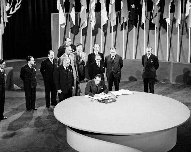 Image result for u.n. charter signed in 1945