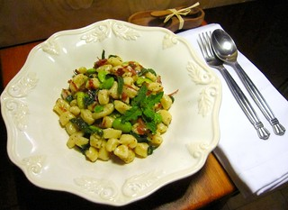 Little Gnocchi with Favas, Bresaola and Mint Brown Butter | by SeppySills
