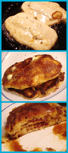 Bacon-Stuffed Pancakes. | Pardon the blurriness of the first ...