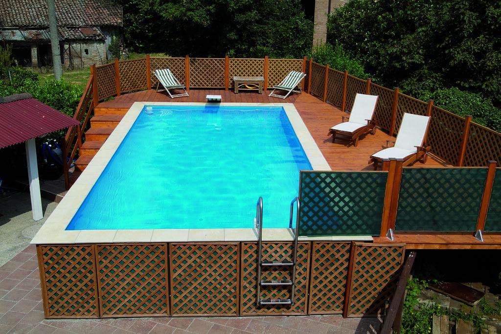 Dolcevita fuoriterra 1 2 piscina dolcevita fuori terra for Aufstellpool verkleiden