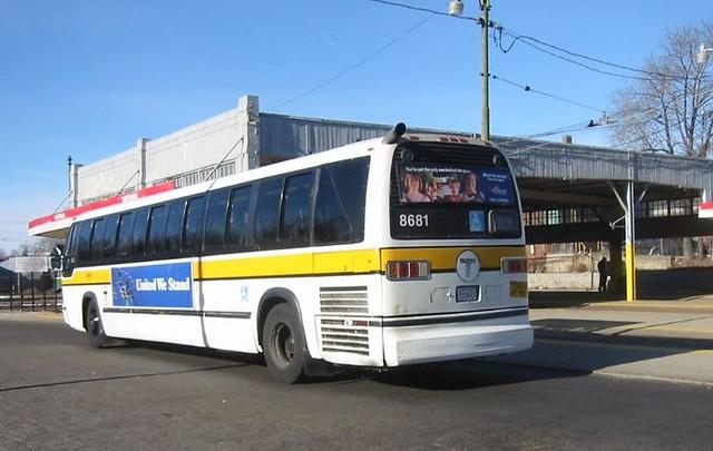 Mbta Rts Bus 8681 Now Scrapped Photo By Jim Devlin