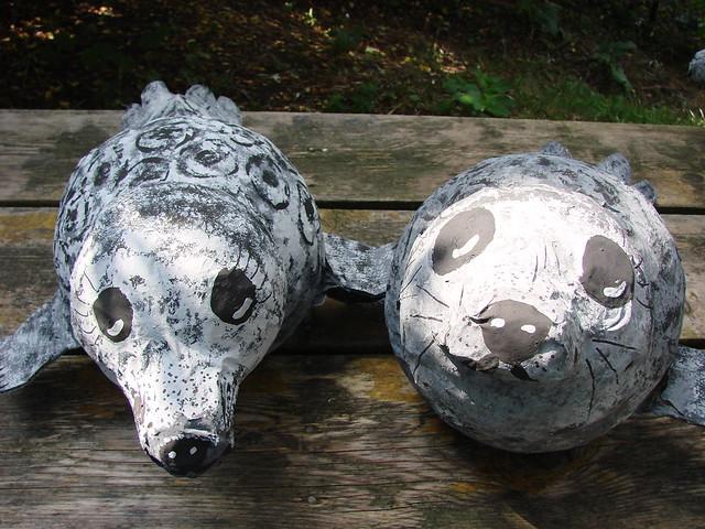 papier mache ringed seals flickr photo sharing