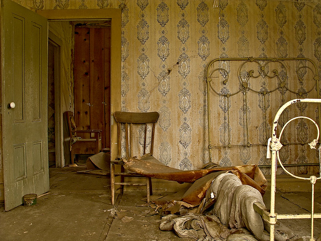 Bodie State Park Ghost Town Interior Bedroom Door Wallp