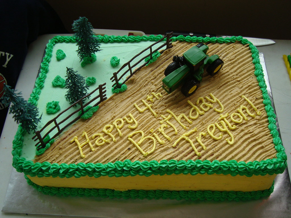 Tractor Cakes For  Year Old