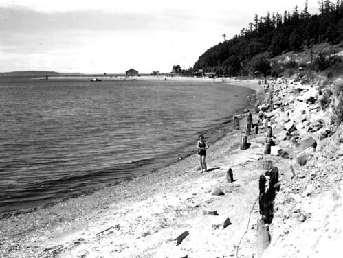 People On Beach At Golden Gardens 1933 See Our Website To Flickr