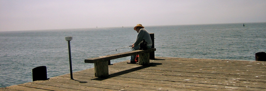 Fishing On Santa Barbara Pier Scenes From Travel Up The