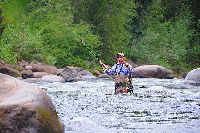 Lost a big one2 zekeduggann flickr for Fly fishing vail colorado