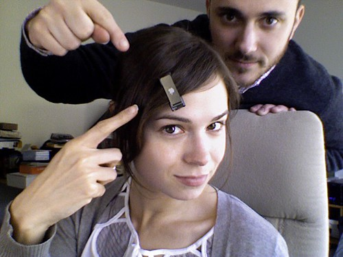 iPod shuffle as hair accessory. | by Veronica Belmont