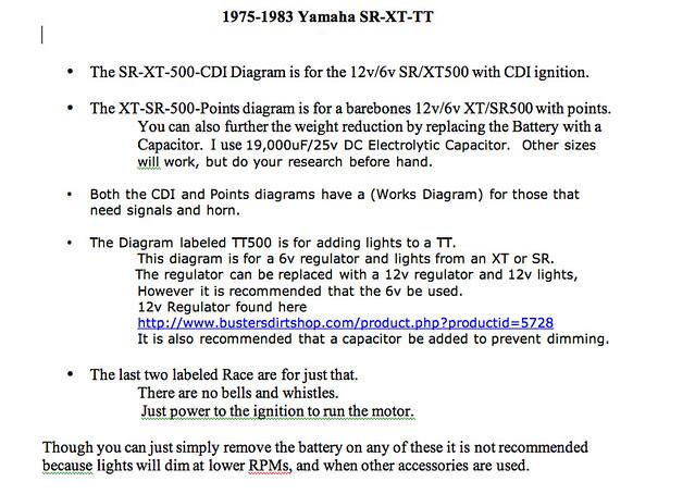 yamaha sr xt tt simple wiring diagrams flickr rh flickr com  1978 sr500 wiring diagram