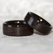 Wenge Wooden Rings with Black Corian Edges