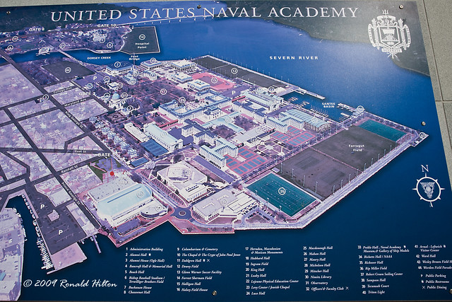 Naval Academy Campus Map US Naval