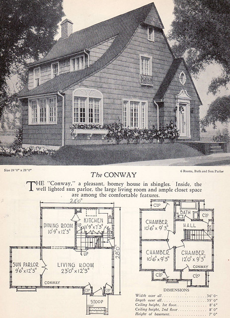 1928 Home Builders Catalog The Conway