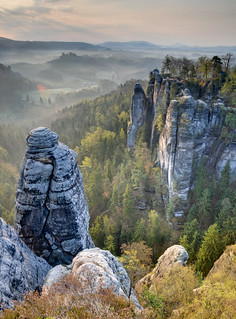 Sandstone Morning (HDR, Saxon Switzerland, Germany) | by Xindaan