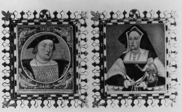 Image result for king henry viii and katherine of aragon in black and white