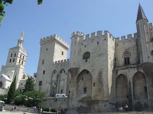 Avignon - Place du Palais Avignon - Place du Palais - Metropolitan Basilica, Notre-Dame des Doms, Cathedral of Avignon and Papal Palace | by ell brown