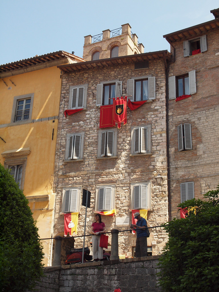 Francois Illas New Tradition: Old Houses In The Medieval Town Of Gubbio, Italy
