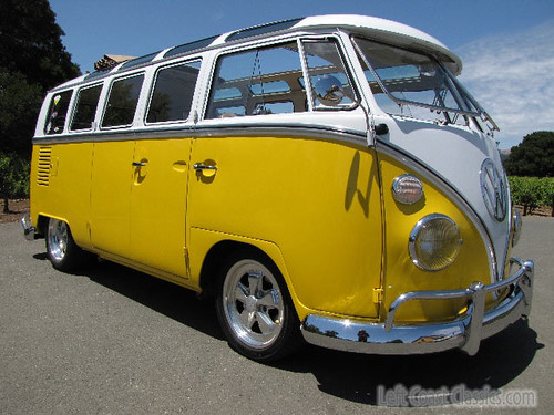 1966 vw 21 window deluxe bus by left coast classics for 1966 21 window vw bus