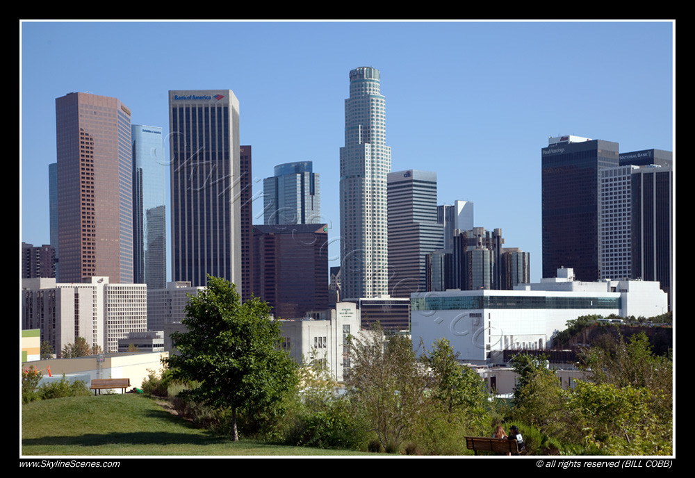 Los Angeles Skyline La Skyline From Vista Hermosa Park