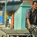 Bicyclist in Kathmandu