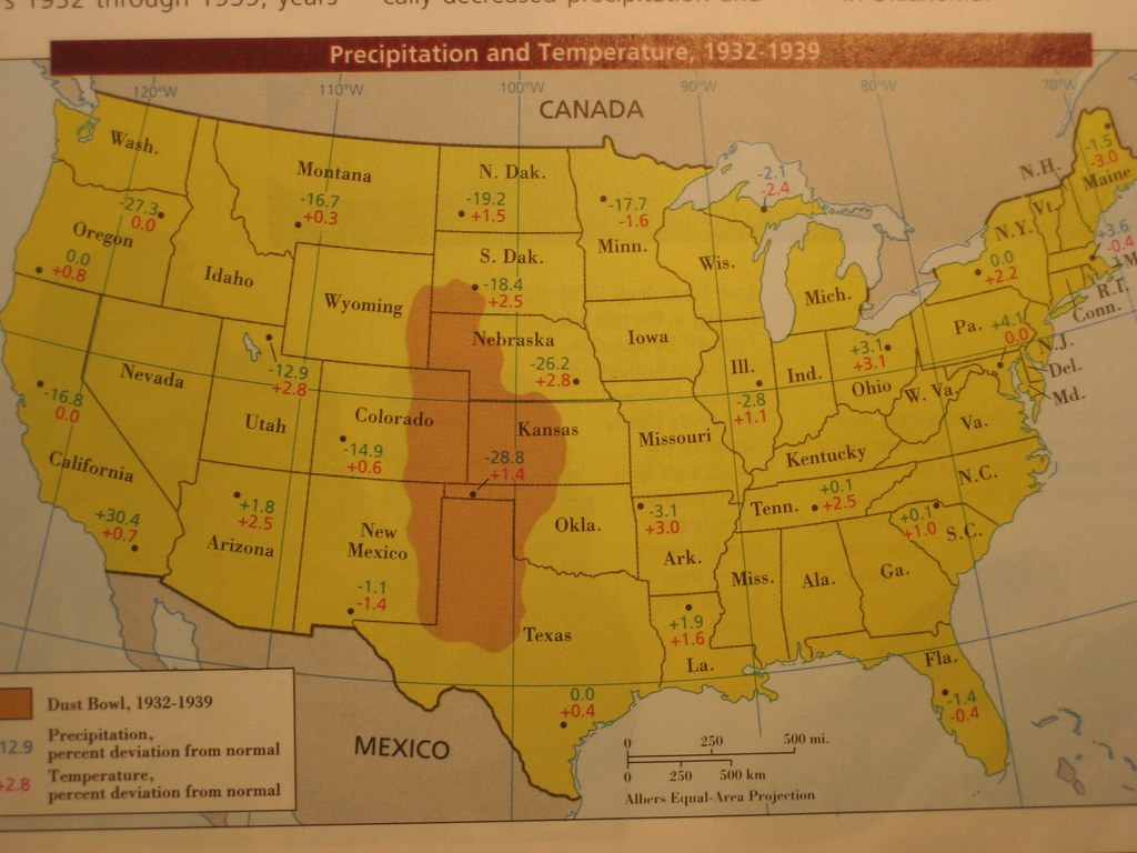 this is supposed_dust bowl ND text book map 2 | A textbook map showing the su… | Flickr