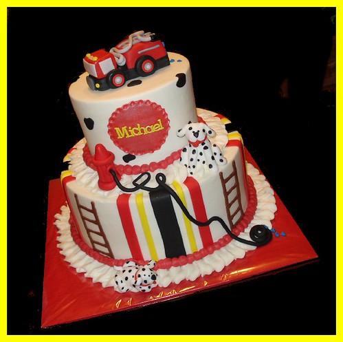 Truck And Car Theme Birthday Cake