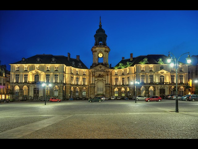 place de la mairie by night rennes place de la mairie re flickr. Black Bedroom Furniture Sets. Home Design Ideas