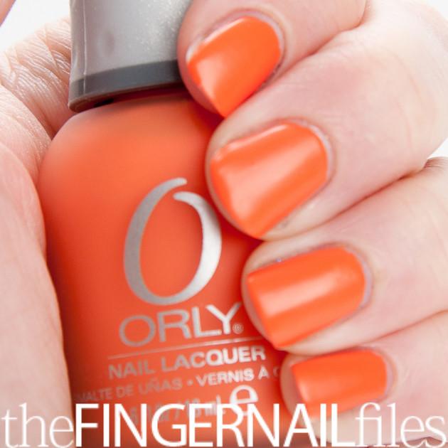 Orange Nail Polish Designs
