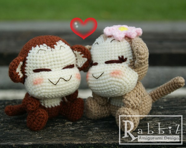 Amigurumi To Go Monkey : Amigurumi Monkey Amigurumi Monkeys Pattern designed by ...