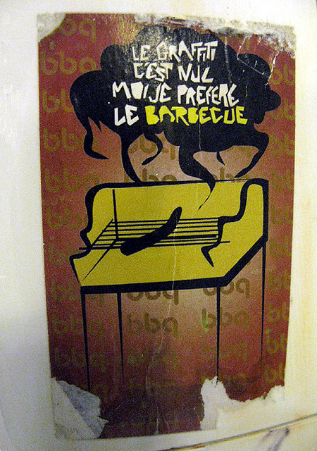 graffiti or barbecue sticker nantes france nantes. Black Bedroom Furniture Sets. Home Design Ideas