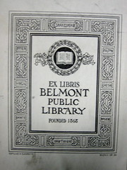 Belmont bookplate
