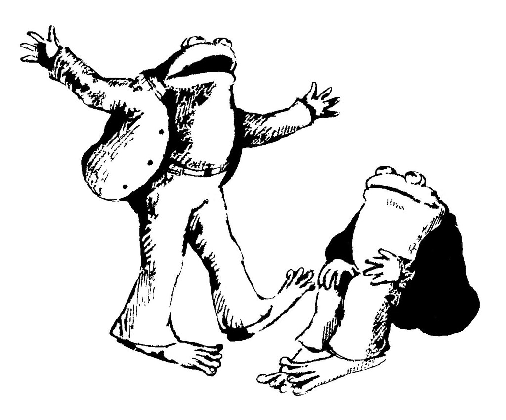 frog and toad are friends a stencil of the two characters u2026 flickr