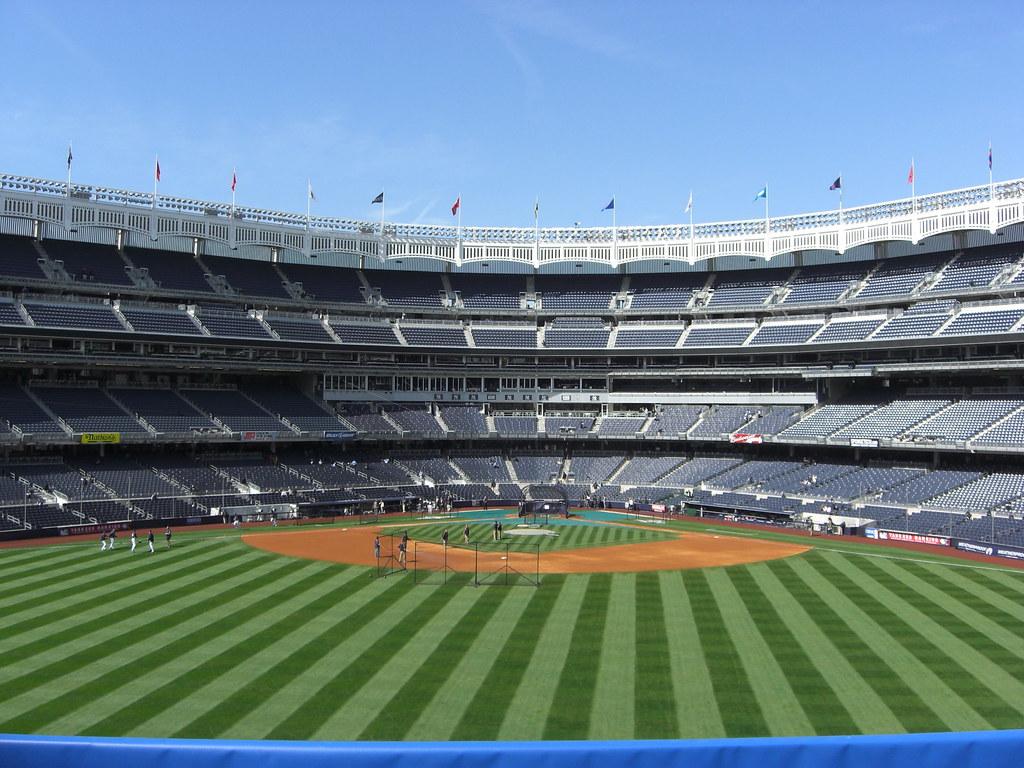 Yankee Stadium 4   View of Yankee Stadium from center ... Raising English
