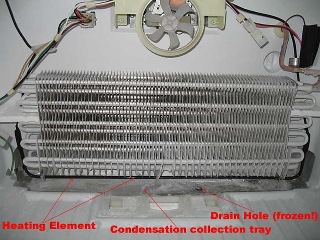 Freezer Anatomy And Frozen Over Condensate Drain Pan Flickr
