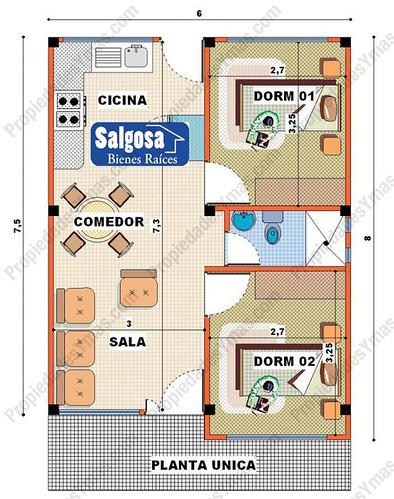 Modelo de casa de campo 1 piso plano flickr photo - Planos de casas rectangulares ...