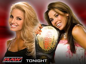 Mickie james and trish stratus vs candice michelle and victoria tag team match raw 2005 - 3 1