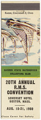 Garden State Matchcover Collectors Club 20th Annual R.M.S Convention [Exterior]