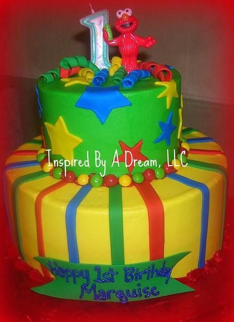 Elmo 1st Birthday cake Nicolescakesmi Flickr