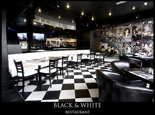 Black white restaurant flickr photo sharing
