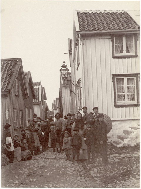 All The Girls Standing In The Line For The Bathroom: People In The Old Part Of Lysekil, Sweden